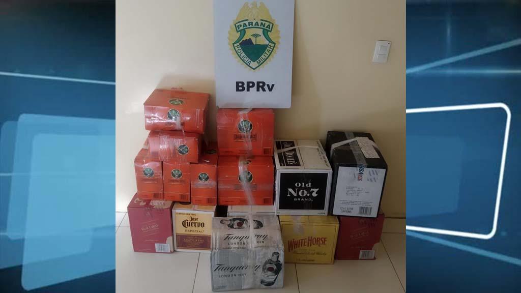 Polícia Rodoviária apreende caixas de whisky contrabandeado em Rolândia